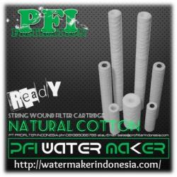 PFI Natural Cotton String Wound Filter Cartridge 5 micron Water Maker Indonesia  large
