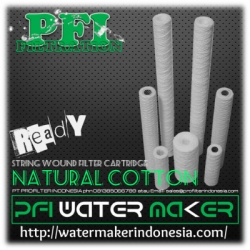 PFI Natural Cotton String Wound Filter Cartridge Water Maker Indonesia  large