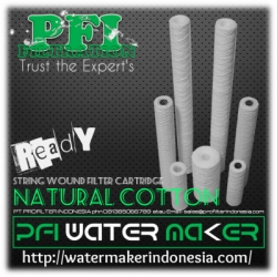 d PFI Natural Cotton String Wound Filter Cartridge 1 micron Water Maker Indonesia  large